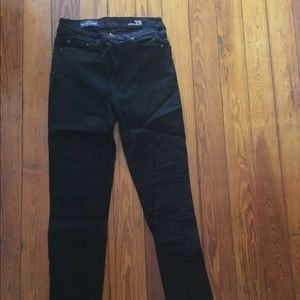 J. Crew High Rise Skinny Jean in black.